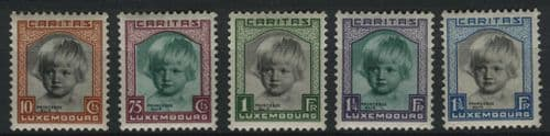 Luxembourg 1931 SG.302-306 M/M